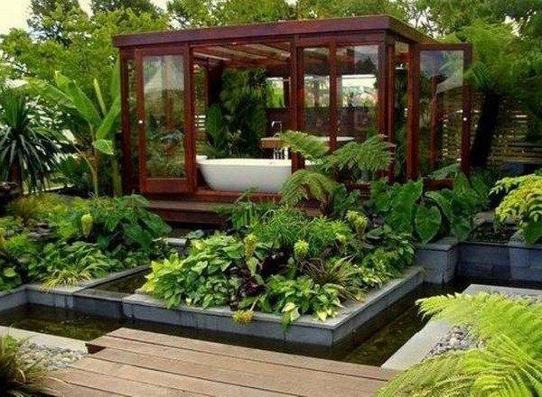 modern garden house