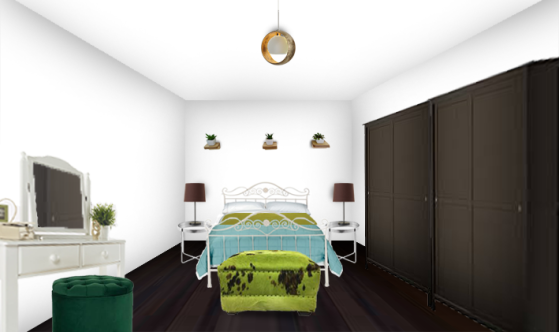 bedroom photomontage