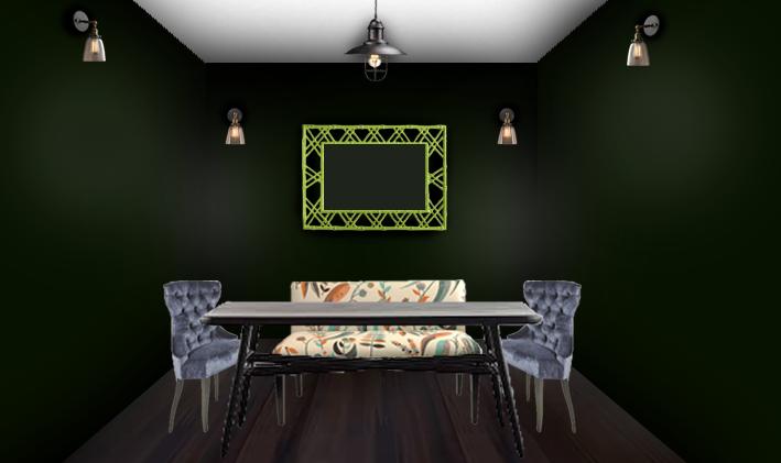 green-dinning-room