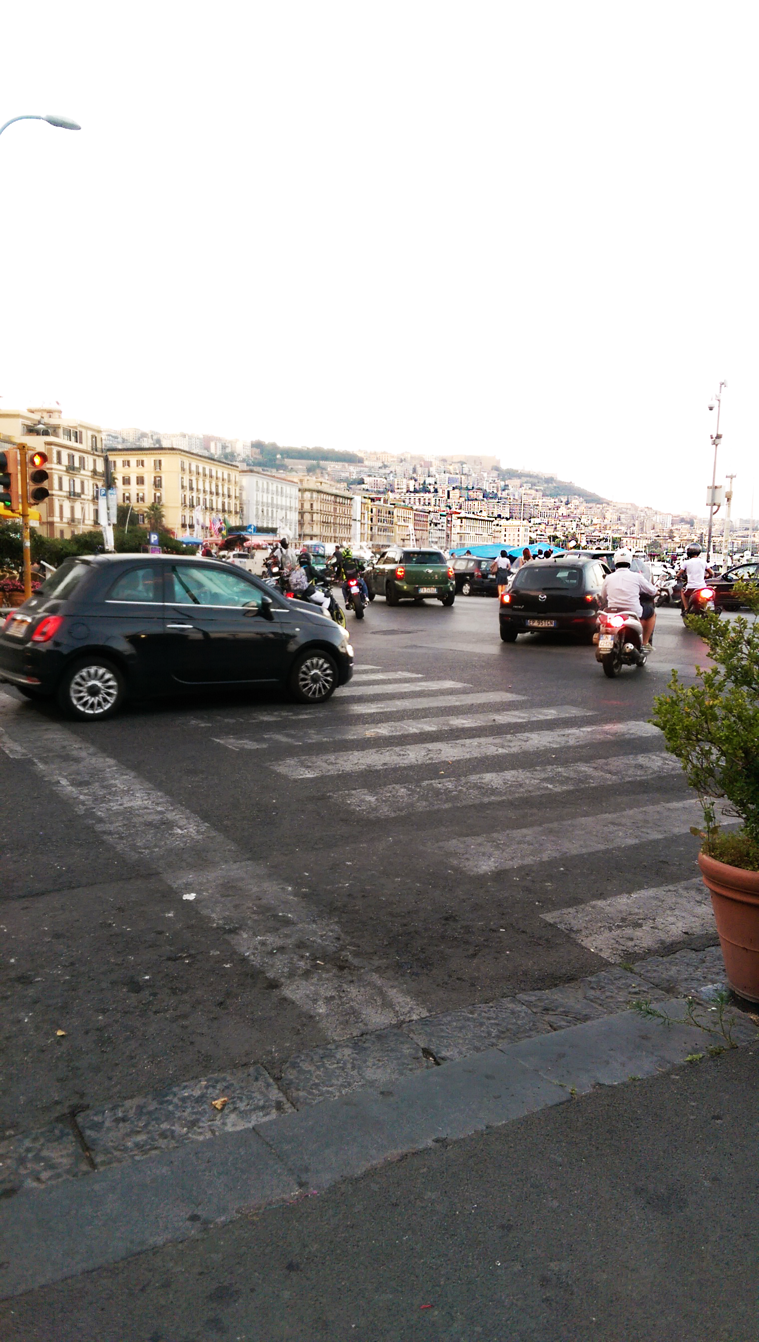 Cars driving in Posillipo