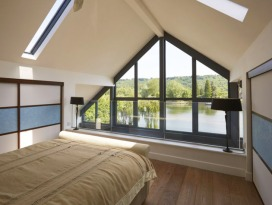 Grand Designs amphibious flood proof house in Buckinghamshire