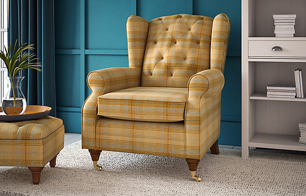 homeiswheretheheartis-british-interior-marks-and-spencer-highland-button-tartan-armchair