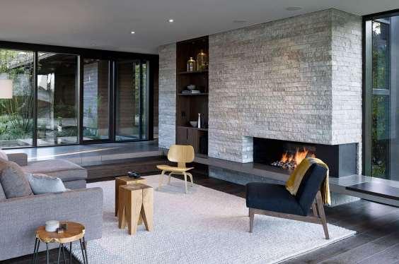 mustard-blanket-garden-sliding-door-modern-living-room
